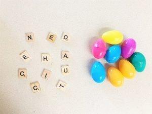 Letter Eggs