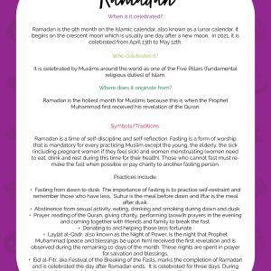Ramadan Learning Packet