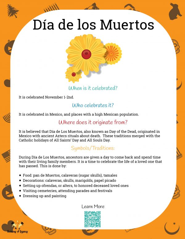 Dia de los Muertos Learning Packet_Holiday Info